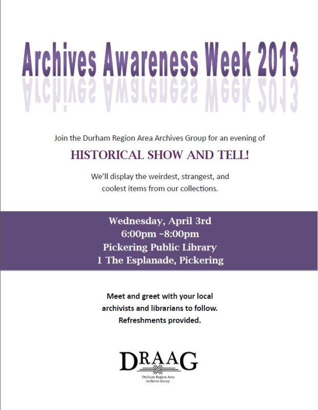 Archives Awareness Week