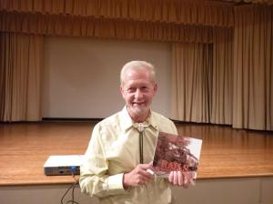 Ron Brown and his newest publication, 'Rails Across Ontario'