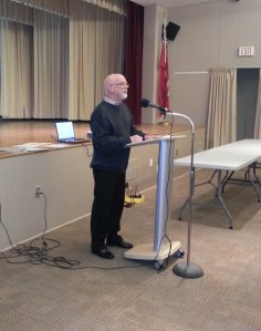 OHS President Merle Cole beginning the AGM