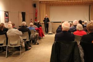 Author John Goddard discussing the Toronto Museums