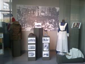 The Nursing Sister's Uniform is currently on display at Oshawa's City Hall as part of their Art in the Hall exhibition