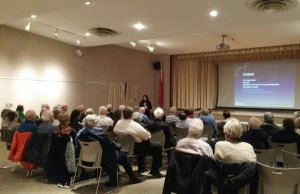 At November's Speaker Series; photo by S. Jones